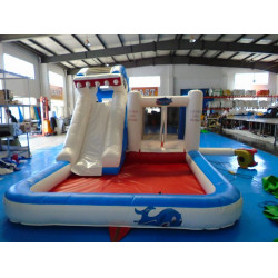 Piscina Inflable Y Tobogán